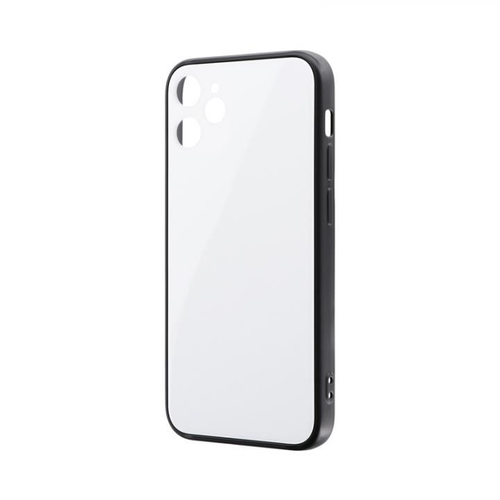 背面フラットガラスケース「SHELL GLASS Flat」 ホワイト iPhone 12 mini_0