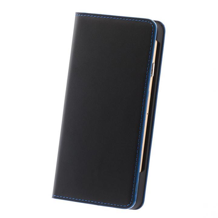 ナイトトリップ7 キップレザー 手帳型ケース ブルーステッチ