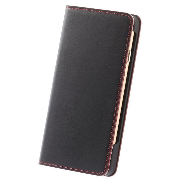 ナイトトリップ7  キップレザー 手帳型ケース レッドステッチ iPhone 7