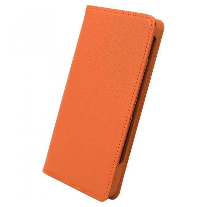 サライ7 手帳型レザーケース オレンジ