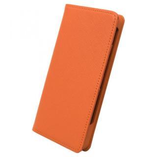 サライ7 手帳型レザーケース オレンジ iPhone 7