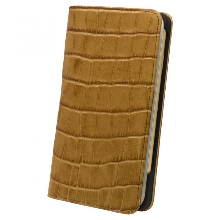 ロトス7 手帳型レザーケース キャメル iPhone 7