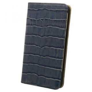 ロトス7 手帳型レザーケース ブルー iPhone 7