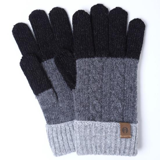 スマホ対応手袋 iTouch Gloves CABLE ブラック/ダークグレー_0