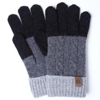 スマホ対応手袋 iTouch Gloves CABLE ブラック/ダークグレー
