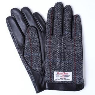 スマホ対応手袋 iTouch Gloves ハリスツィード ブラックチェックLサイズ