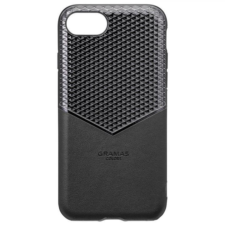iPhone8/7/6s/6 ケース GRAMAS COLORS Edge Hybrid Shell 背面ケース ブラック iPhone SE 第2世代/8/7/6s/6_0