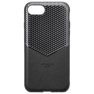 iPhone8/7/6s/6 ケース GRAMAS COLORS Edge Hybrid Shell 背面ケース ブラック iPhone 8/7/6s/6