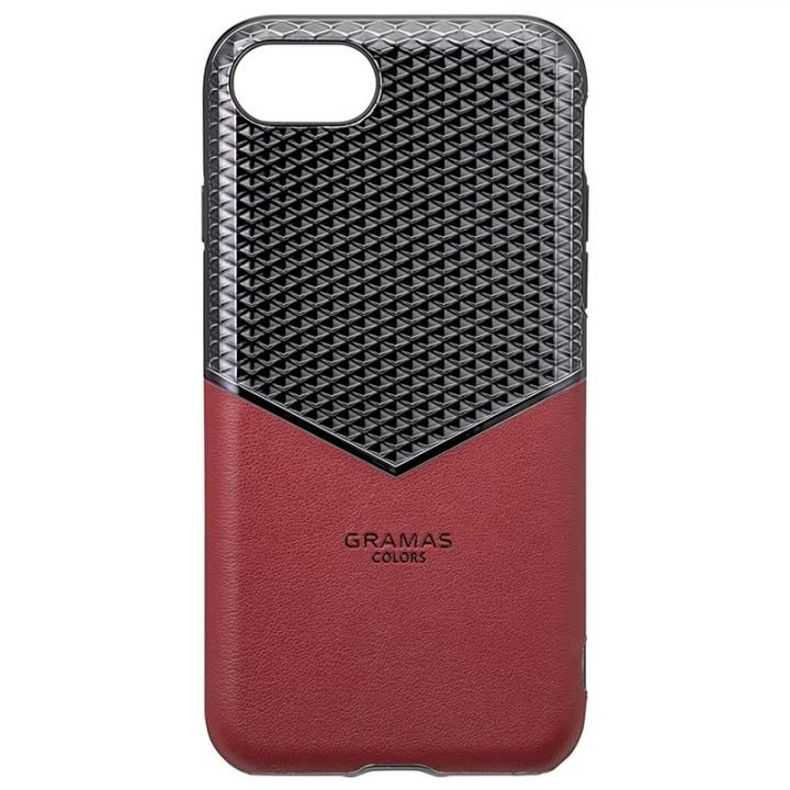 iPhone8/7/6s/6 ケース GRAMAS COLORS Edge Hybrid Shell 背面ケース バーガンディー iPhone SE 第2世代/8/7/6s/6_0