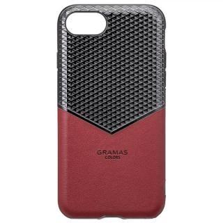 GRAMAS COLORS Edge Hybrid Shell 背面ケース バーガンディー iPhone 8/7/6s/6