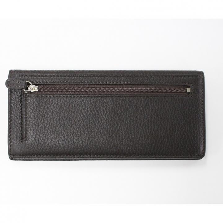[新iPhone記念特価]柔らか鹿革の長財布 ブラウン
