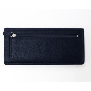 [新iPhone記念特価]柔らか鹿革の長財布 ネイビー