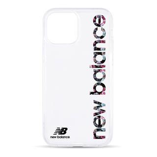 iPhone 12 / iPhone 12 Pro (6.1インチ) ケース New Balance TPUクリアケース/縦ロゴ/フラワー柄 iPhone 12/iPhone 12 Pro