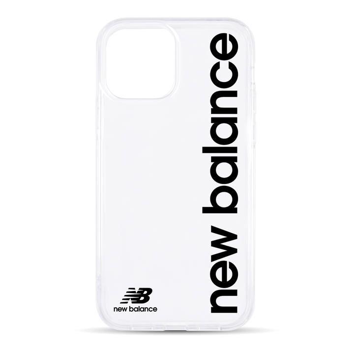New Balance TPUクリアケース/縦ロゴ/ブラック iPhone 12 mini_0