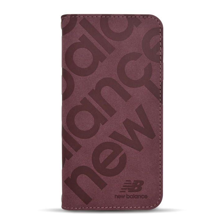 New Balance 手帳ケース/スタンプロゴスエード/バーガンディー iPhone 12/iPhone 12 Pro_0