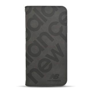 iPhone 12 / iPhone 12 Pro (6.1インチ) ケース New Balance 手帳ケース/スタンプロゴスエード/ブラック iPhone 12/iPhone 12 Pro