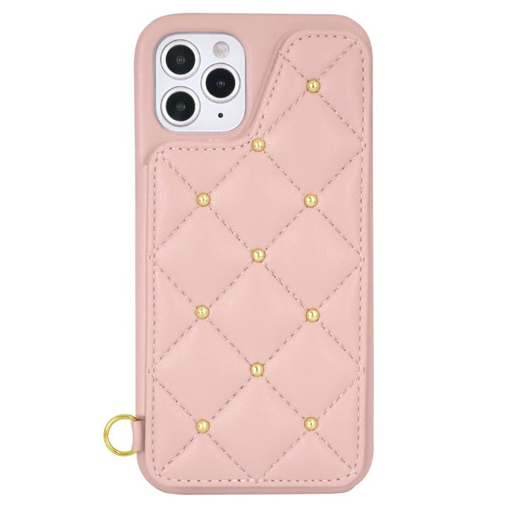 CECIL McBEE キルティング背面ケース/PINK iPhone 12/iPhone 12 Pro_0