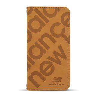 iPhone 12 mini (5.4インチ) ケース New Balance 手帳ケース/スタンプロゴスエード/キャメル iPhone 12 mini
