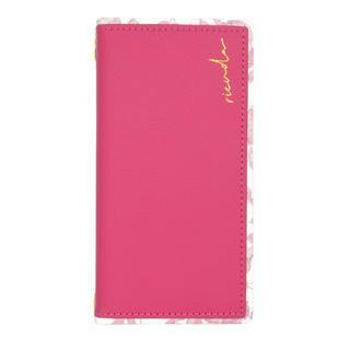 iPhone 12 / iPhone 12 Pro (6.1インチ) ケース rienda スクエア手帳/Gentle Flower/ピンク iPhone 12/iPhone 12 Pro