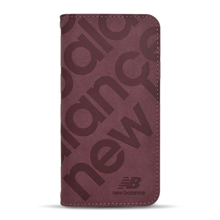 New Balance 手帳ケース/スタンプロゴスエード/バーガンディー iPhone 12 mini_0