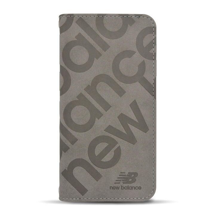 New Balance 手帳ケース/スタンプロゴスエード/グレー iPhone 12/iPhone 12 Pro_0