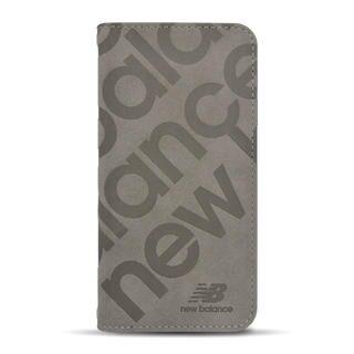 iPhone 12 mini (5.4インチ) ケース New Balance 手帳ケース/スタンプロゴスエード/グレー iPhone 12 mini