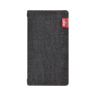 iPhone 12 mini (5.4インチ) ケース EDWIN 手帳ケース/タグデニム/ブラック iPhone 12 mini