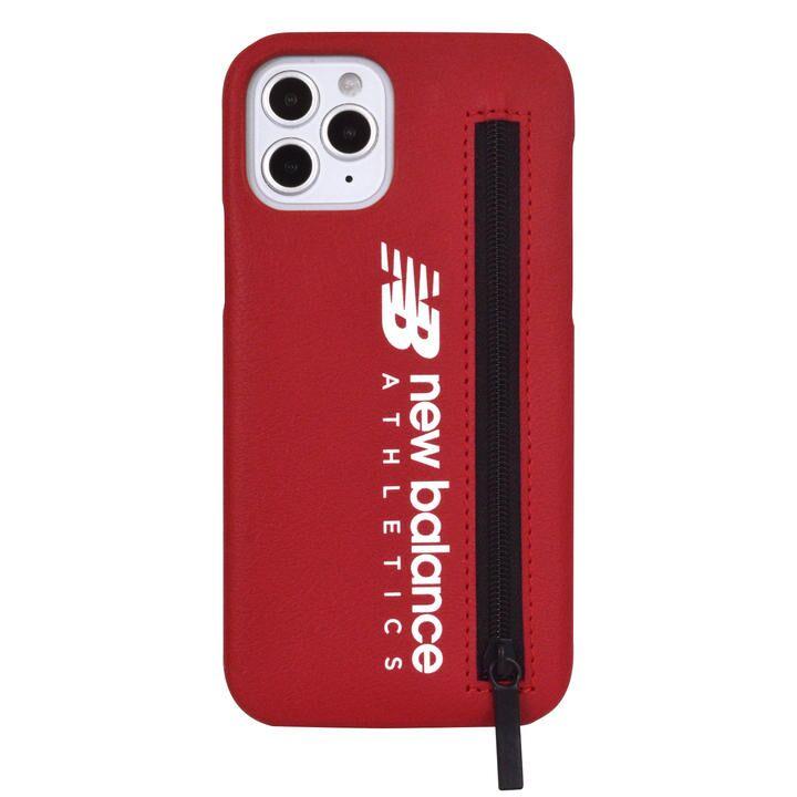 New Balance ジップ付き背面ケース/レッド iPhone 12/iPhone 12 Pro_0