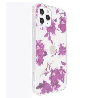 iPhone 12 / iPhone 12 Pro (6.1インチ) ケース rienda TPUクリアケース/Fall Flower/ロイヤルパープル iPhone 12/iPhone 12 Pro