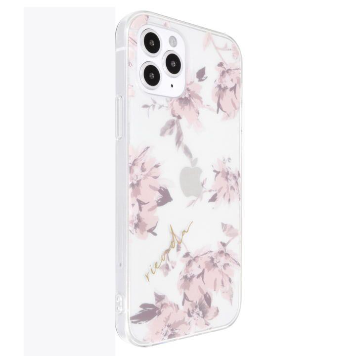 rienda TPUクリアケース/Fall Flower/ベビーピンク iPhone 12/iPhone 12 Pro_0