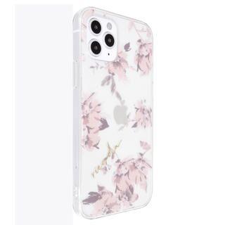 iPhone 12 / iPhone 12 Pro (6.1インチ) ケース rienda TPUクリアケース/Fall Flower/ベビーピンク iPhone 12/iPhone 12 Pro