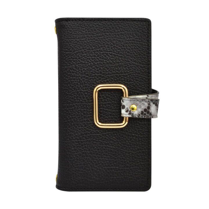 ROYALPARTY 手帳ケース/パイソン/BLACK iPhone 12 mini_0