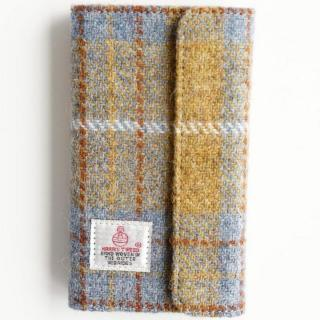 【iPhone6s/6ケース】Harris Tweed 手帳型ケース SECURE  イエローチェック iPhone 6s/6