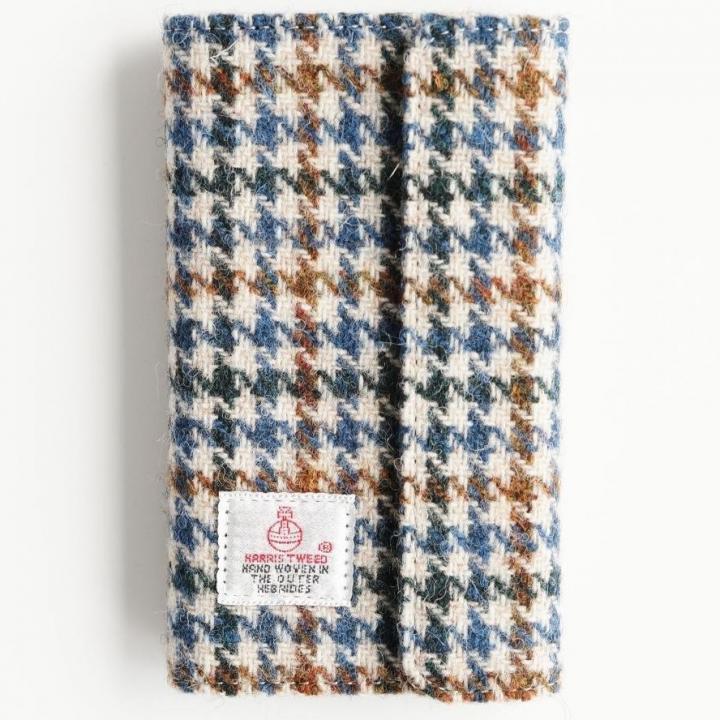 【iPhone6s/6ケース】Harris Tweed 手帳型ケース SECURE  ブルーハウンドトゥース iPhone 6s/6_0