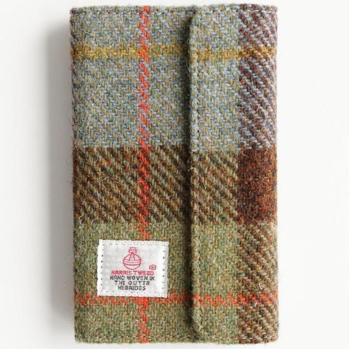 iPhone6s Plus/6 Plus ケース Harris Tweed 手帳型ケース SECURE  グリーンチェック iPhone 6s Plus/6 Plus_0