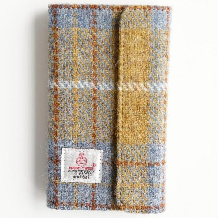 iPhone6s Plus/6 Plus ケース Harris Tweed 手帳型ケース SECURE  イエローチェック iPhone 6s Plus/6 Plus_0