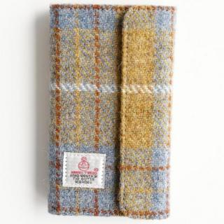 【iPhone6s Plus/6 Plusケース】Harris Tweed 手帳型ケース SECURE  イエローチェック iPhone 6s Plus/6 Plus
