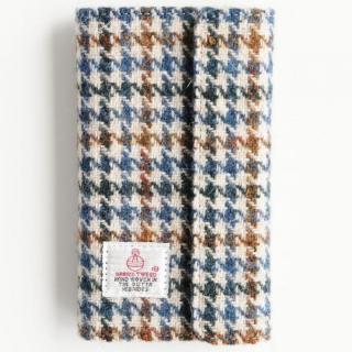 iPhone6s Plus/6 Plus ケース Harris Tweed 手帳型ケース  ブルーハウンドトゥース iPhone 6s Plus/6 Plus