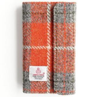 iPhone6s Plus/6 Plus ケース Harris Tweed 手帳型ケース SECURE  オレンジチェック iPhone 6s Plus/6 Plus