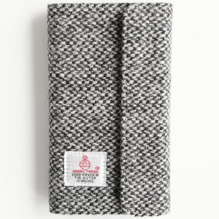 iPhone6s Plus/6 Plus ケース Harris Tweed 手帳型ケース SECURE  ブラックホワイト iPhone 6s Plus/6 Plus_0