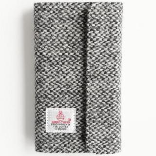 iPhone6s Plus/6 Plus ケース Harris Tweed 手帳型ケース SECURE  ブラックホワイト iPhone 6s Plus/6 Plus