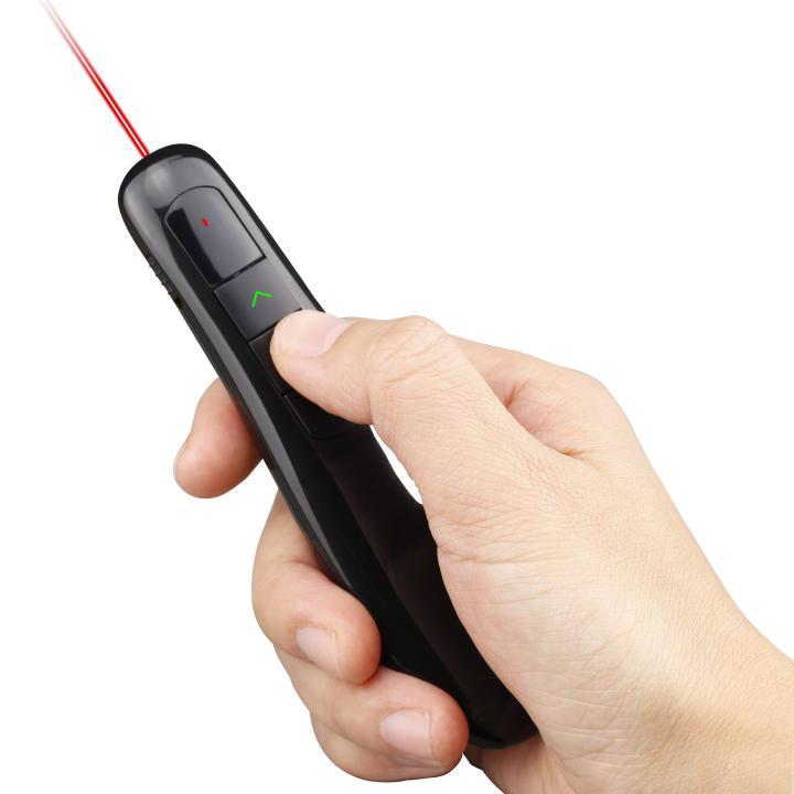 電池がいらない USB充電式 レーザーポインター スタイリッシュ ワイヤレス プレゼンター_0