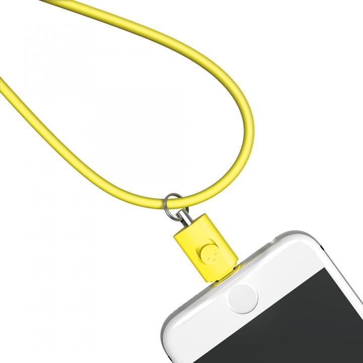 Lightningコネクタ用ネックストラップ イエロー_0
