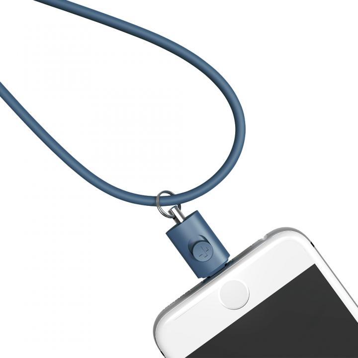 Lightningコネクタ用ネックストラップ ネイビー