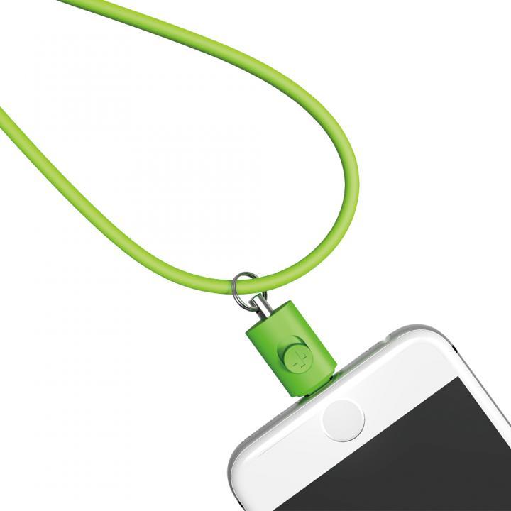Lightningコネクタ用ネックストラップ グリーン