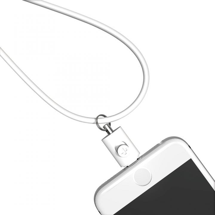 Lightningコネクタ用ネックストラップ ホワイト_0