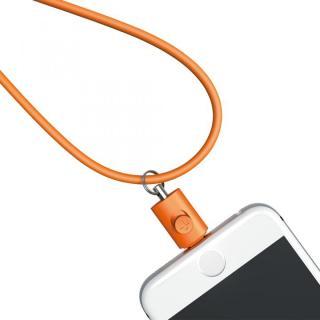 Lightningコネクタ用ネックストラップ オレンジ