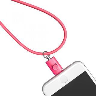 Lightningコネクタ用ネックストラップ ピンク
