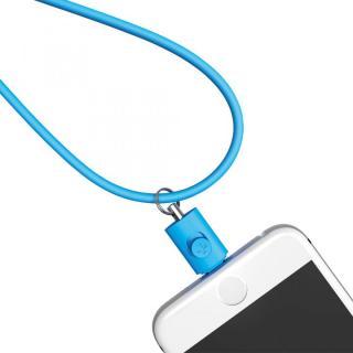 Lightningコネクタ用ネックストラップ ブルー