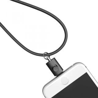Lightningコネクタ用ネックストラップ ブラック